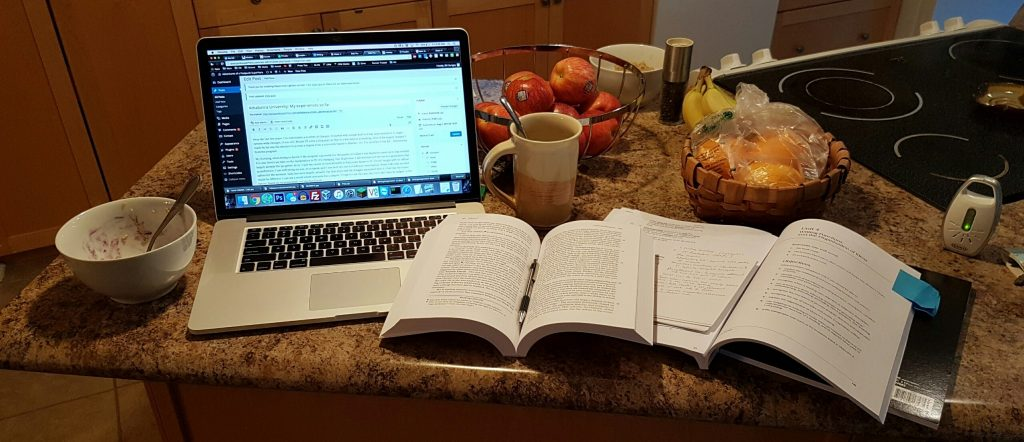 How I work - my 5am morning study station.